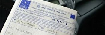 Italian vehicle circulation permit.