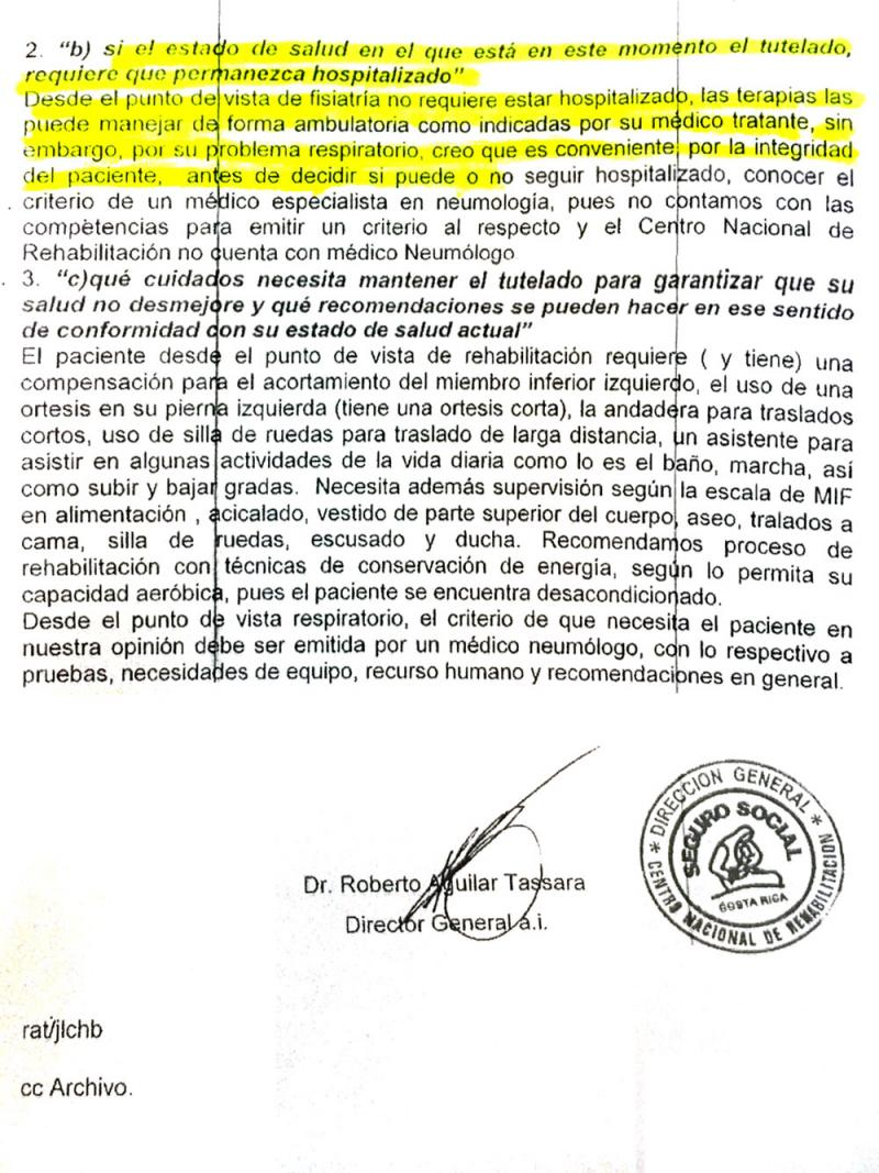 A typical order for hospitalization. Source Diario Extra