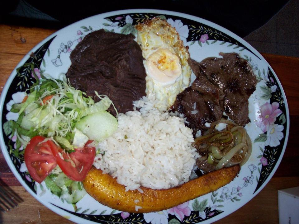 "Typical Costa Rican Food Called A ""Casado"""