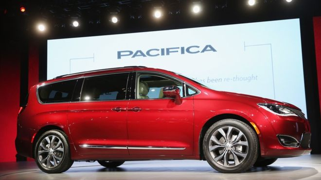 The Google Fiat Chrysler Pacficia minivan self driving car