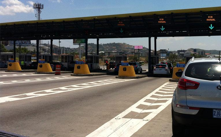 The Ruta 27 tolls at Escazu