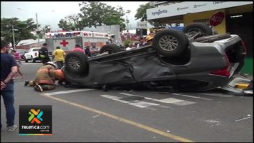 Accident Monday in Alajuela