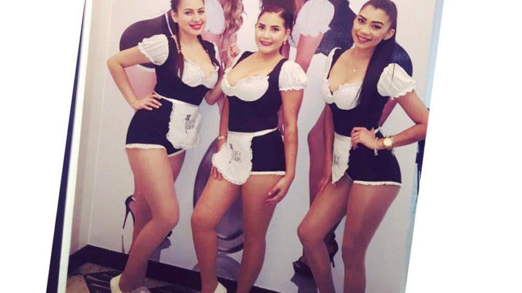 The waitresses at Cafe con cuerpo on Thursday.